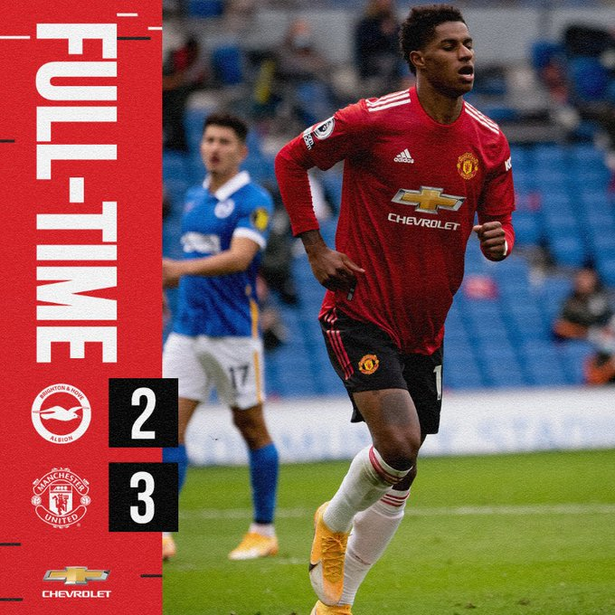 Download: Brighton vs Manchester United 2-3 – Match & Goal Highlights