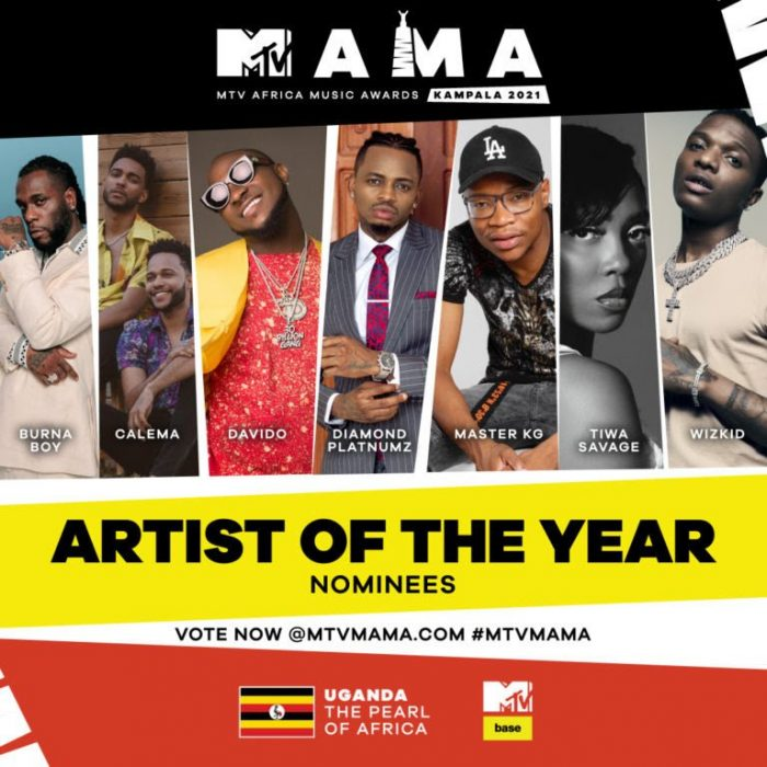 MTV MAMA 2021: Wizkid, Burna Boy For Artist Of The Year; See Full Nominees List