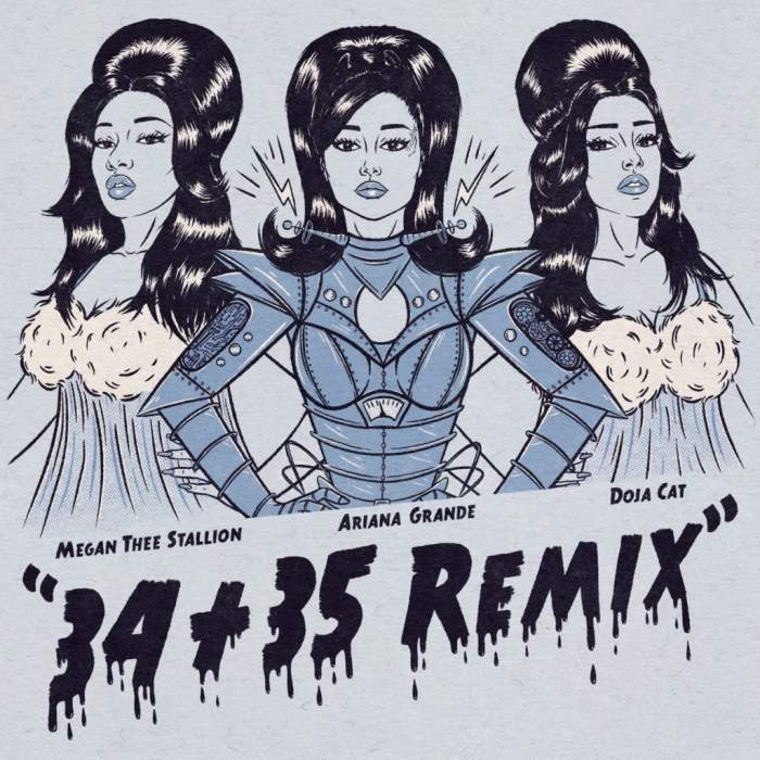 Ariana Grande - 34+35 (Remix) (feat. Doja Cat & Megan Thee Stallion)