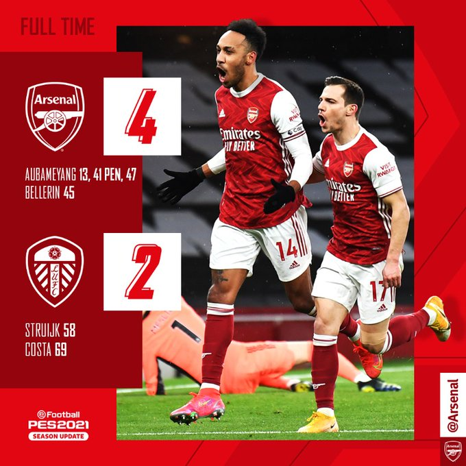 Arsenal vs Leeds 4-2 – Highlights Download Mp4 14 February 2021 Premier League