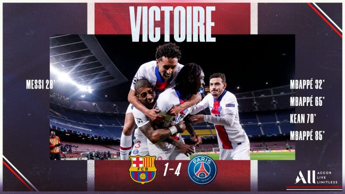 Barcelona vs PSG 1-4 Highlight Download MP4 HD UEFA Champion