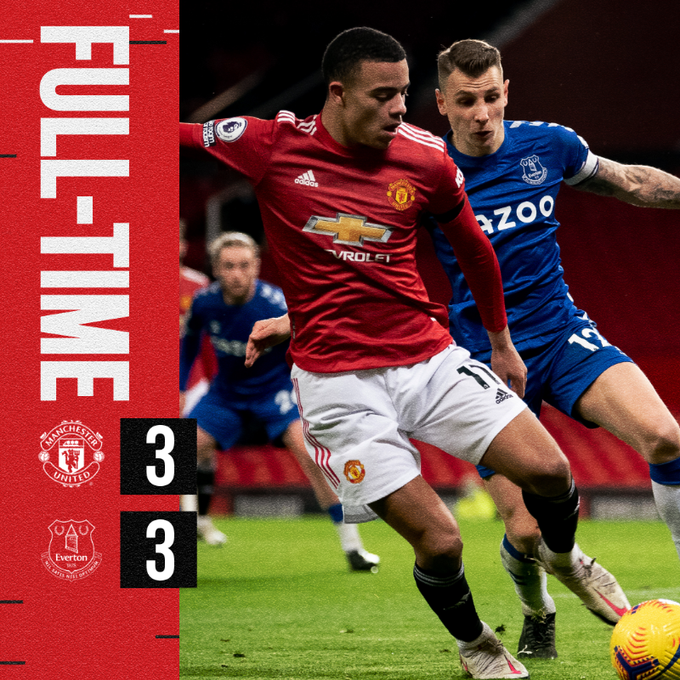 Manchester United vs Everton 3-3 – Highlights