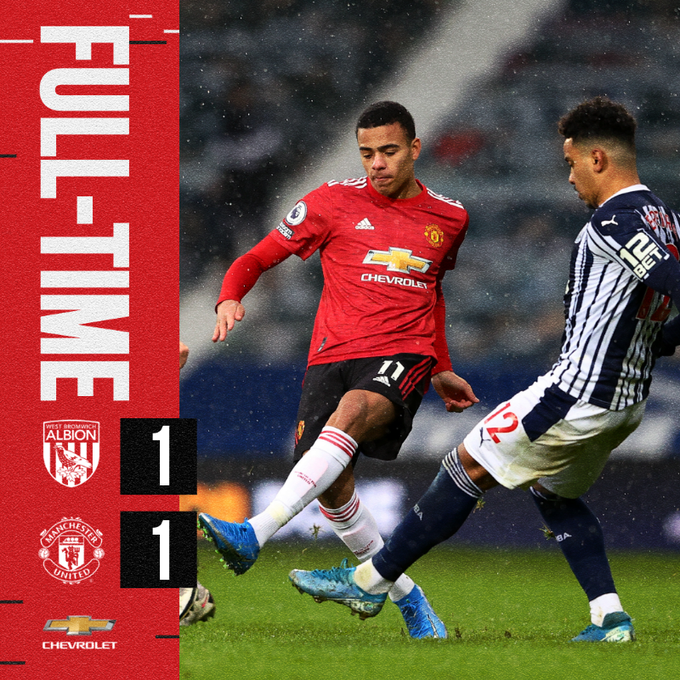 West Brom vs Manchester United 1-1 – Highlights