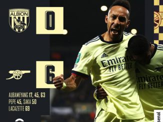 West Brom vs Arsenal 0-6 – Highlights Download MP4 HD 25 August 2021 EFL Cup
