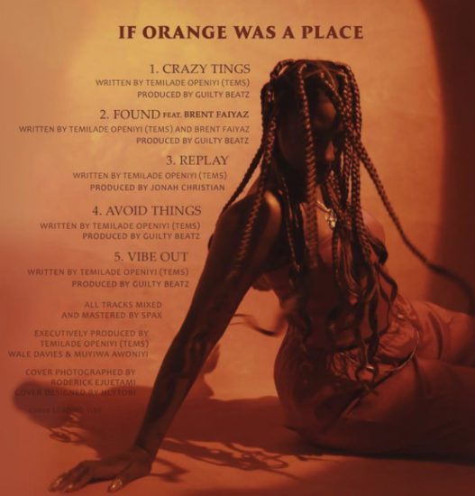 Tems – If Orange Was A Place EP Mp3 Download & Zip File